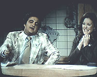 """SNL's """"Weekend Update"""" with John Belusii and Jane Curtain, 1979"""